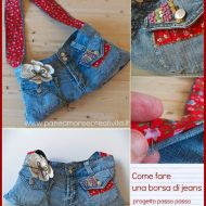 Borse con jeans riciclati