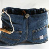 Borse di jeans fatte in casa