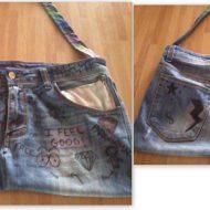 Creare borse in jeans