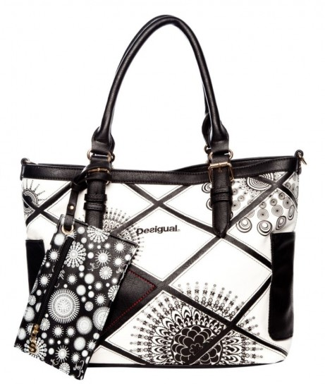 borsa desigual bianca e nera