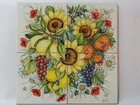 fiori dipinti su ceramica